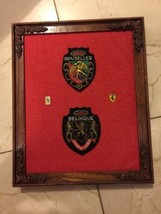 Belgique L'union Fait La Force Lion Crest Coat Arms Patch+ Ferrari Pins ... - $29.56