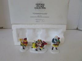 Dept 56 56202 Toymaker Elves Set Of 3 Figures Heritage Village D7 - $14.65