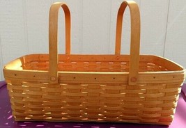 "Longaberger 1996 Medium Market Basket Double Handles No Liner 19"" X12"" X... - $46.97"