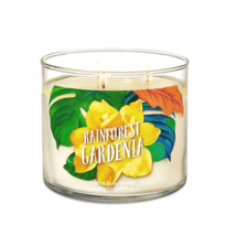 ☆☆RAINFOREST GARDENIA☆ BATH & BODY WORKS 3 WICK CANDLE JAR☆ FREE FAST SH... - $23.75
