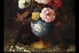 Wan-Li Vase with Flowers by Balthazar Van der Ast - Art Print - $19.99+