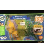 Leap Frog Tag Reader World Map Two Sided  Map TAG PEN INCLUDED AND BATTE... - $22.98