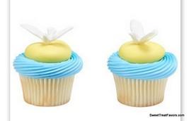 Dove Baptism CupCake Cake Topper 12 18 24 Favor Decoration Christening R... - $10.84+