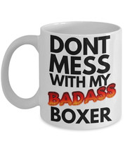 "Boxer Dog Mug ""Funny Badass Boxer Dog Coffee Mug"" Great Boxer Dog Gift Idea For  - $14.95"