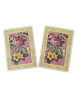 2 Single Swap Fine Art Painting Pink Yellow Flowers Swap Playing Cards P... - $1.98