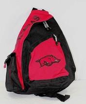 Arkansas Razorbacks Sling Backpack Teardrop Red/Black - ₹2,550.42 INR