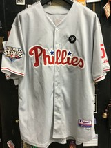 Philadelphia Phillies #51 Ruiz 2009 World Series Majestic MLB Sewn Jerse... - $58.80