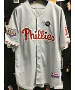 Philadelphia Phillies #51 Ruiz 2009 World Series Majestic MLB Sewn Jerse... - $58.80