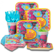 Trolls Birthday Party Supplies for 8 Guest Plat... - $27.71