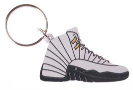 Good Wood NYC Taxi 12 Sneaker Keychain Black/Grey IV Shoe Ring Key Fob