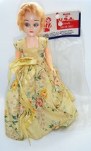 "Vintage DRESS ME DOLLS Blonde 8"" Tall Grant Plastics w/Dress Shoes & Stand - $9.90"