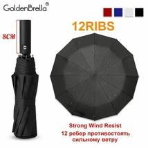 GoldenBrella® Upgrade 12Ribs Automatic Umbrella Rain Women Windproof 3Fold - $11.68