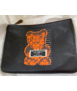 New Coach Clutch Pouch Bear Black Leather 77886 - $107.00