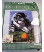 "Natura Caron Latch Hook Rug Kit Playful Kitten 20"" X 27"" Opened Box - $32.55"