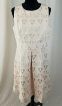 Sangria Donna 14p Flare Dress Jacquard Fit Jewel collo senza Maniche Tasche - $78.14