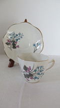 Crown Mark Bone China Floral Teacup and Saucer from England - $7.69
