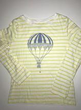 Gap Kids Girls Shirt Top Yellow Striped Balloon Graphic Size xLarge 10–11 XL - $8.54