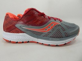 Saucony Ride 10 Size US 10 M (B) EU 42 Women's Running Shoes Gray Red S10373-2
