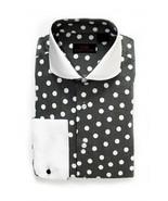 Steven Land Men's Black/White Polka Dot 100% Cotton Dress Shirt Style DW... - $37.99+