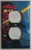 Ninjago Ninja Kai Light Switch Power Outlet wall Cover Plate Home decor image 2
