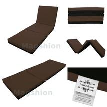 4 Inch Memory Foam Firm Mattress Trifolding Bed Pad Floor Mat Brown/Blac... - $87.61+