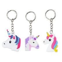 Rantanto 12 Pieces Unicorn Keychains Party Favors - £9.84 GBP