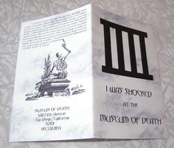 Museum Of Death Souvenir 1990s San Diego Califo... - $19.98