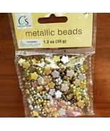 Metallic Colored Beads, mixed metal colors gold silver bronze antique, f... - $6.99