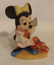 Minnie Mouse Figurine Bisque Porcelain Walt Dis... - $10.00