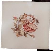 "Antique English Minton Pottery Ceramic Tile ""Emily"" c1870 - $100.00"