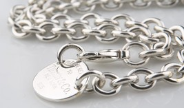 """Tiffany & Co.Argent Sterling """" Return To """" Ovale Collier Étiquette 39.4cm - $311.86"""
