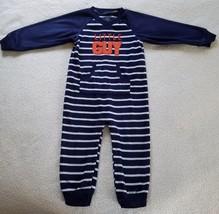 Boy's Fleece One Piece Sleeper~ Size 18 Months~ Blue/White Striped~ Carters - $10.99