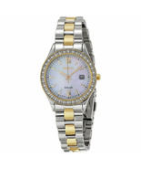 Seiko SUT074 Women's Solar Mother of Pearl Two-Tone Stainless Steel Date Watch - $119.88