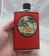 Vintage Miami Beach FL. souvenir whiskey flask bottle. Novelty humor. - $18.99