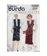 Misses Vest Skirt Burda 8831 Pattern Vintage Size 12-40 Sewing c650 - $10.99