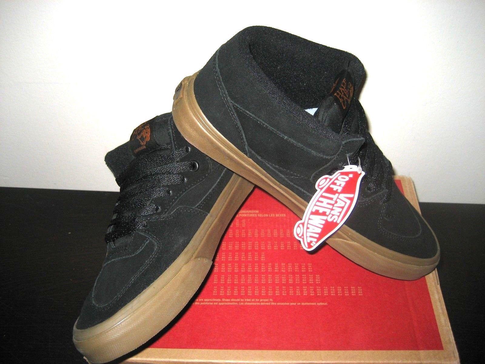 c910c3955d Vans Mens Half Cab Gum Black Black Suede Canvas Skate Shoes Size 7 Classic  NWT