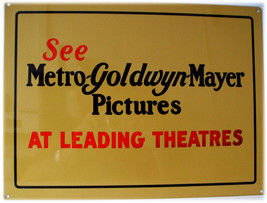 Metro Goldwyn Mayer Pictures Film Movies Theatres Metal Sign - $16.95