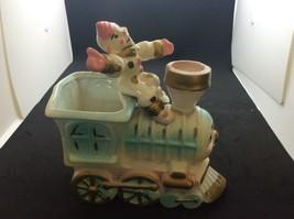 Hollywood Ceramics Clown Riding Train Engine - $10.89