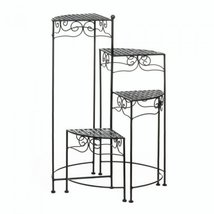 Black 4-Tier Metal Plant Stand - $1.092,74 MXN