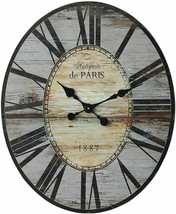 "Nice Wall Clock 29"" 2.5' Large Wooden Distressed Gray Shabby Chic Farmhouse - $199.00"