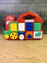 1993 Fisher Price Farmer And The Dell, Red Barn Tractor Pop Up Baby Toy - $27.23