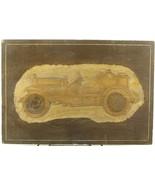 Antique Primitive Rare Folk Tramp Art Hand Carved Car Automobile Americana - $39.70