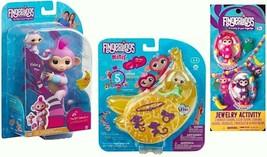 WooWee Fingerlings 3 Pack - BFF Violet & Hope, Elsa & Monkey Jewelry Set - $39.26