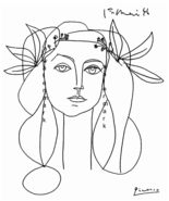 HEAD 1946 Light Canvas Giclee 19 x 13 Print by Picasso - $49.95