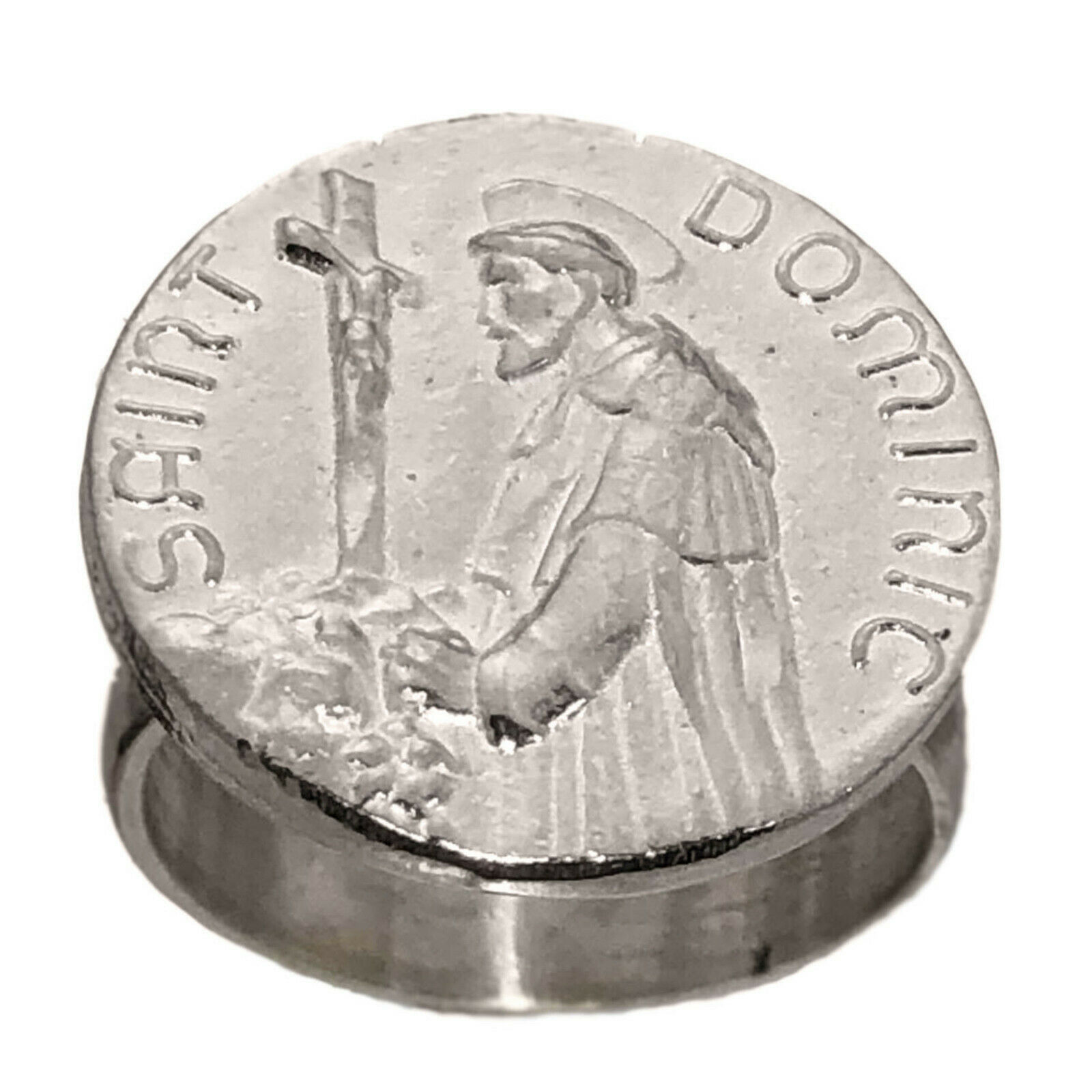 Saint Dominic Sterling Silver 925 Ring Jesus Cross Jewelry New