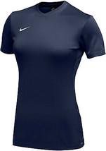 Nike Women's Navy Dri Fit Logo Crew Neck Short Sleeve Park VI Jersey - Large image 2