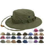 Tactical Boonie Hat Military Camo Bucket Wide Brim Sun Fishing Bush Boon... - $11.99+