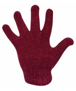 Ladies Chenille Acrylic Gloves Soft and Warm for Woman in Burgundy Navy ... - $9.74