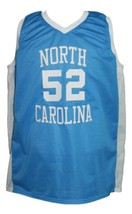 James Worthy #52 College Basketball Jersey Sewn Light Blue Any Size image 4