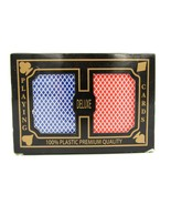 Deluxe Plastic Playing Cards, 2 Decks. New - $16.79
